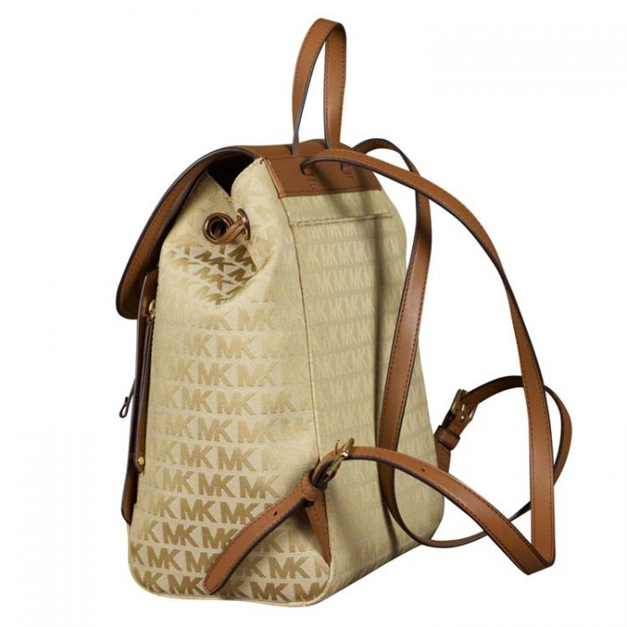 Michael Kors Evie Backpack in Beige Camel Luggage at Luxe Purses