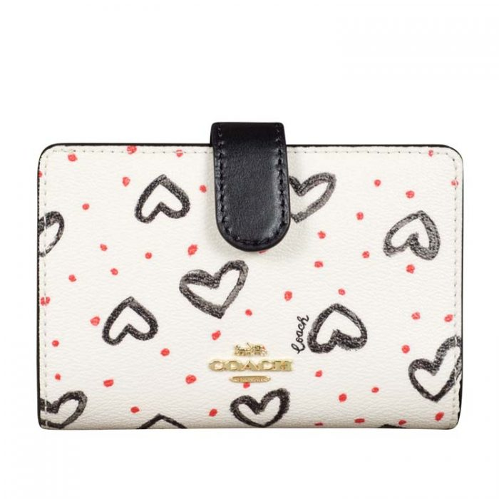 Coach Medium Crayon Heart Corner Zip Wallet