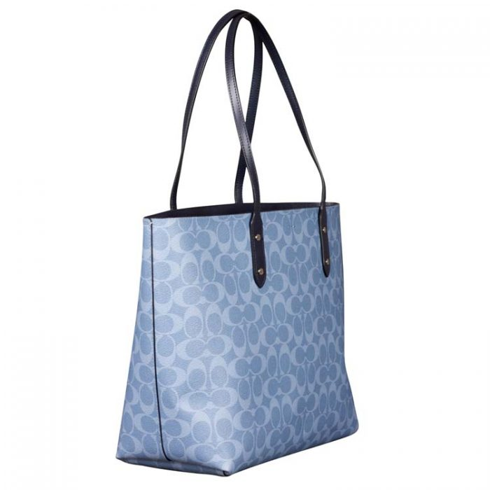 Coach Signature Town Tote in Light Denim Midnight