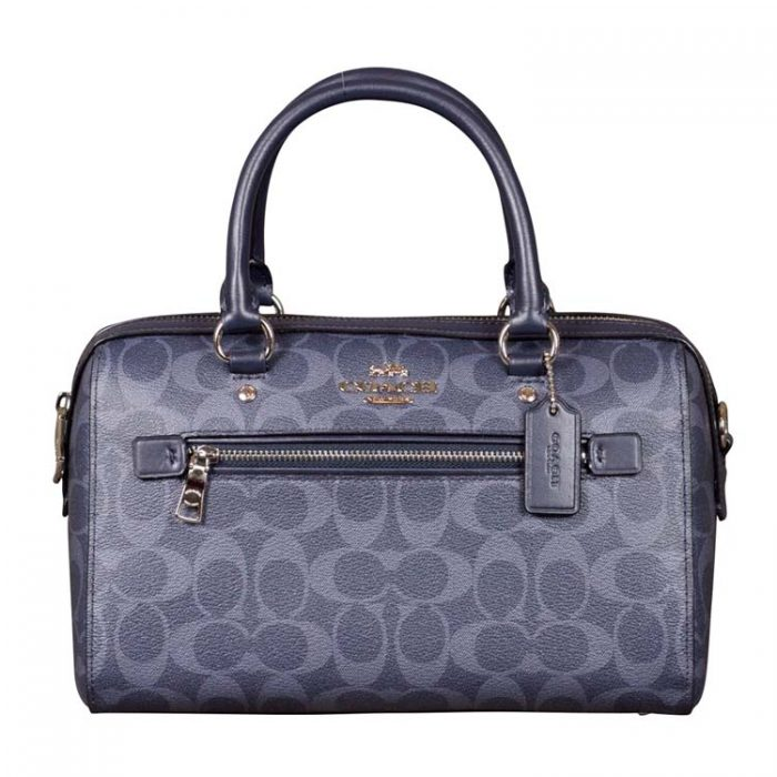 Coach Signature Rowan Satchel in Denim Midnight