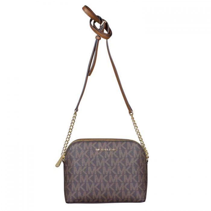 Michael Kors Large Cindy Dome Crossbody Bag in Brown