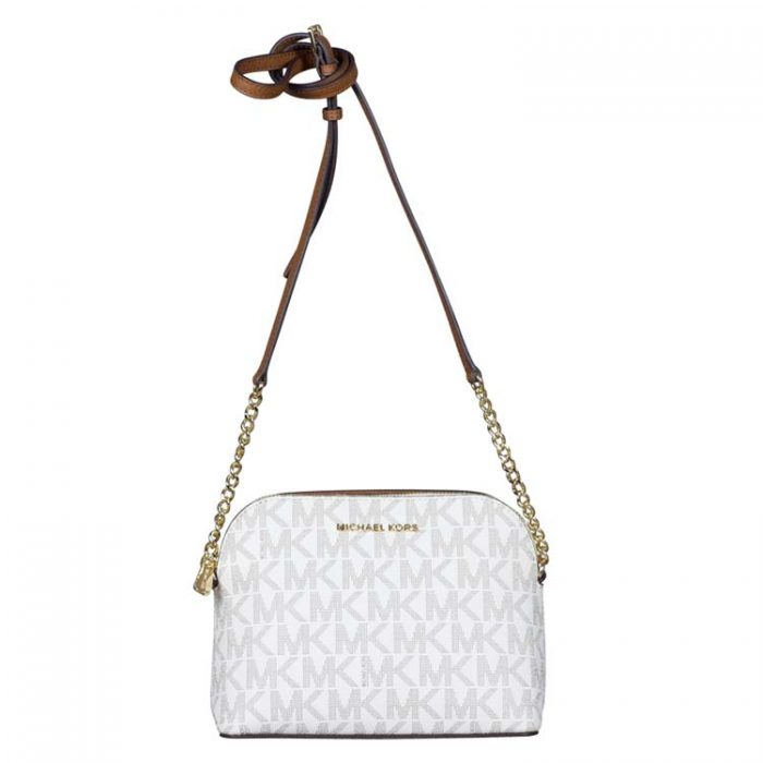 Michael Kors Large Cindy Dome Crossbody Bag in Vanilla