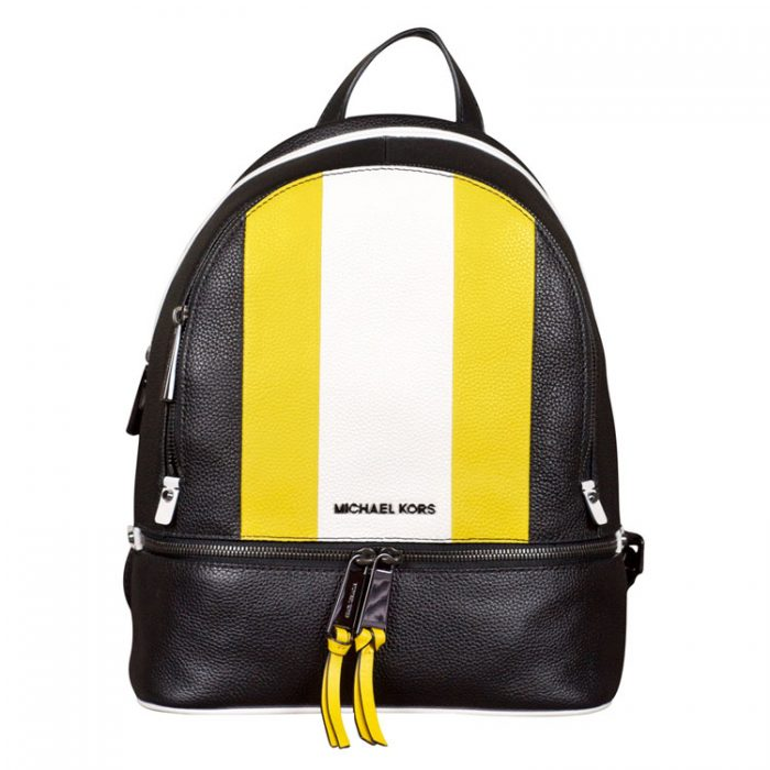 MICHAEL Michael Kors Medium Rhea Zip Backpack in Sunflower Multi