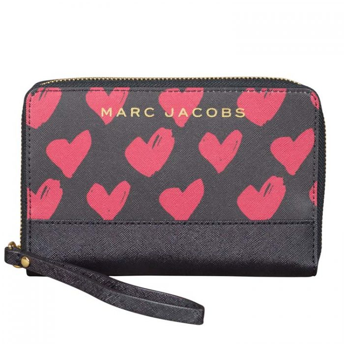Marc Jacobs Red Hearts MF Wallet Wristlet