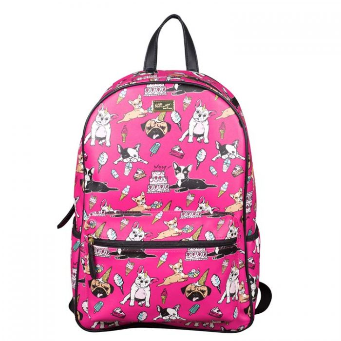 Betsey Johnson French Bulldog Party Backpack