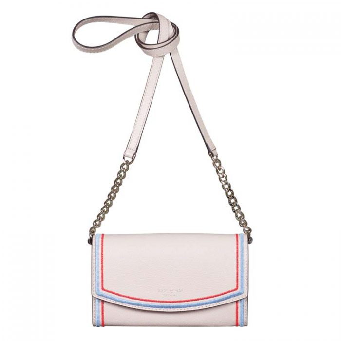 Kate Spade Embroidered Eva Wallet on a Chain