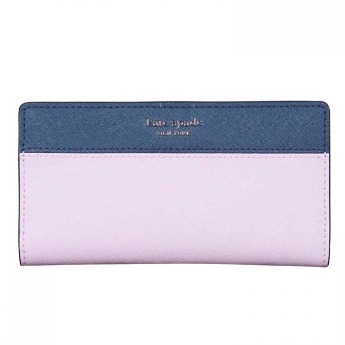 Kate Spade Cameron Bifold Wallet in Lavender Petrol Blue