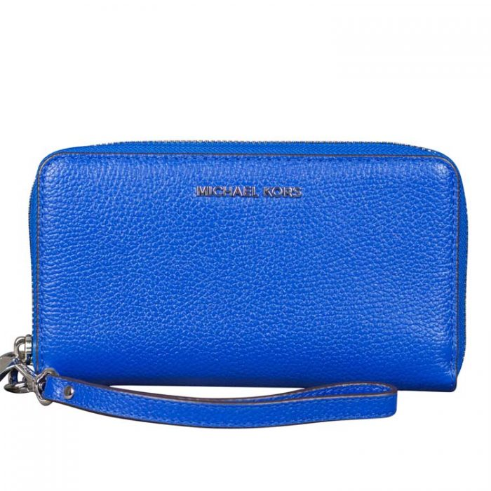 Michael Kors Flat MF Phone Case in Grecian Blue