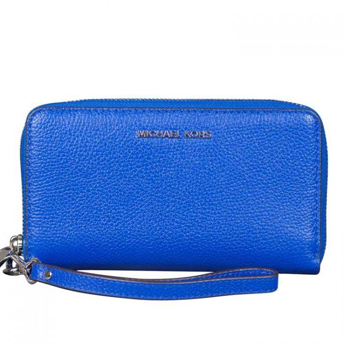Michael Kors Flat MF Phone Case in Grecian Blue