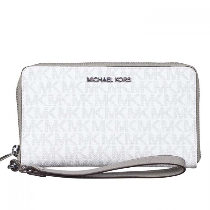 Michael Kors Medium Travel Phone Holder in Bright White