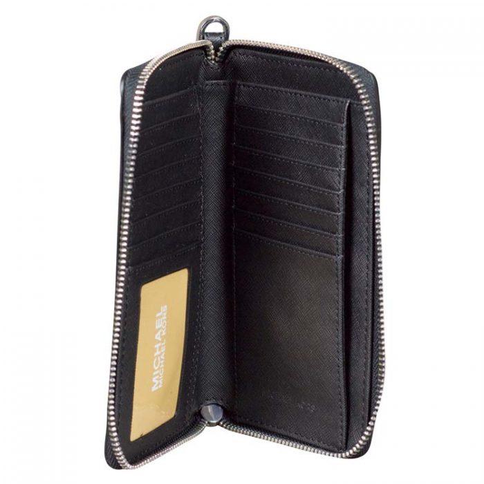Michael Kors Medium Travel Phone Holder in Black