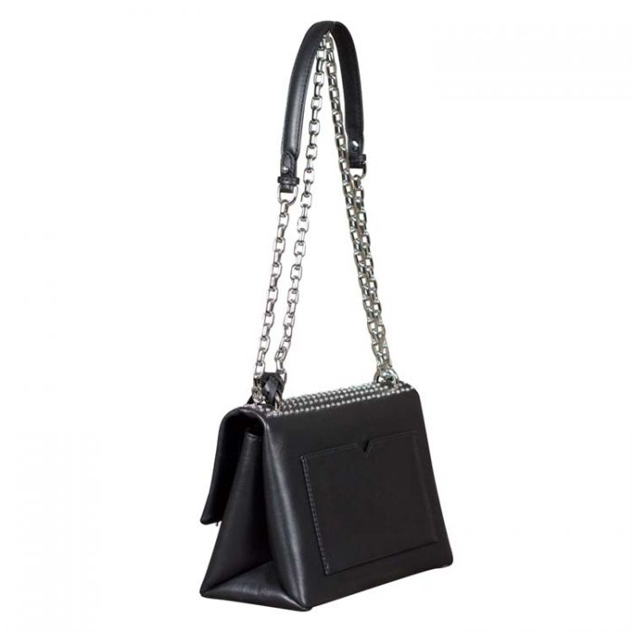 Michael Kors Medium Cece Chain Shoulder Bag in Black