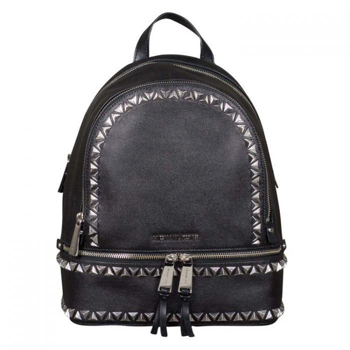 Michael Kors Studded Rhea Leather Backpack