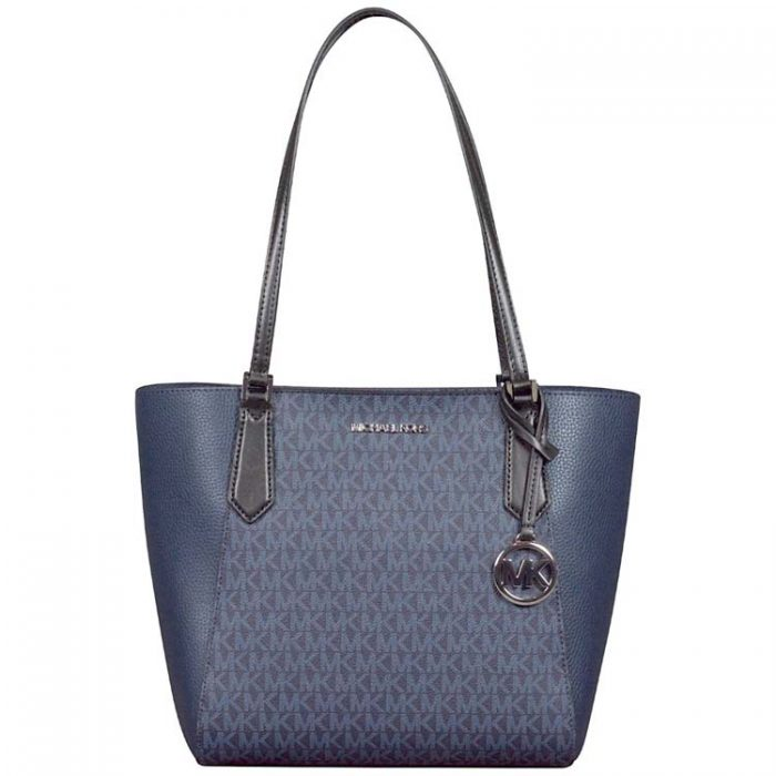 Michael Kors Small Kimberly Bonded Tote in Navy