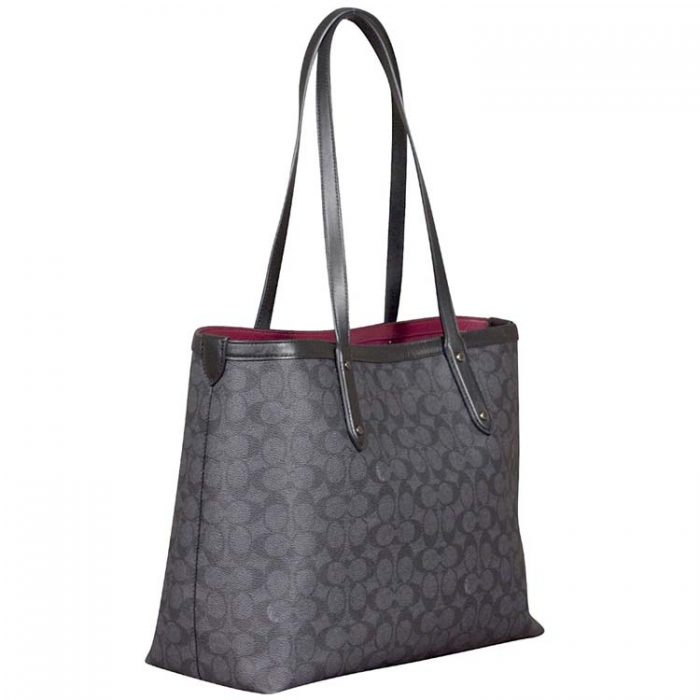 Coach Signature Star Central Tote in Charcoal for sale at Luxe Purses