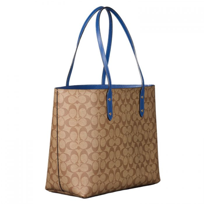 Coach Signature Town Tote in Khaki Deep Atlantic