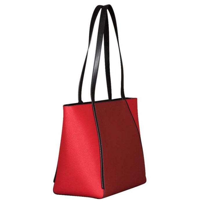 Michael Kors Large Whitney Top Zip Tote in Bright Red