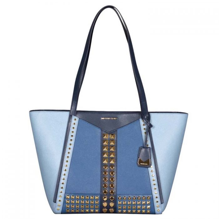 Michael Kors Large Whitney Top Zip Tote in Powder Blue