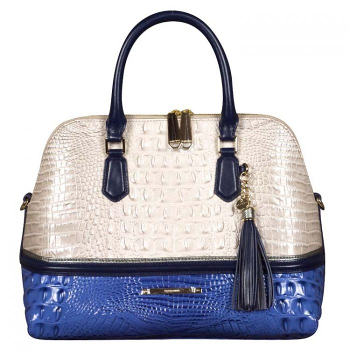 Brahmin Sydney Satchel in Seashell Berkeley