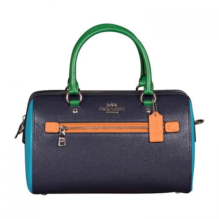 Coach Colorblock Leather Rowan Satchel