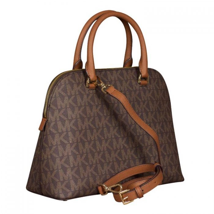 Michael Kors Large Cindy Dome Satchel in Brown