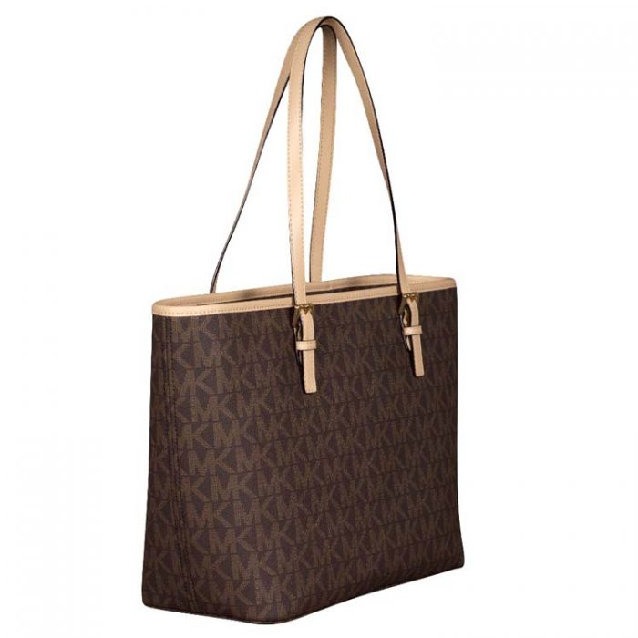 Michael Kors Jet Set Travel Top Zip Tote in Brown