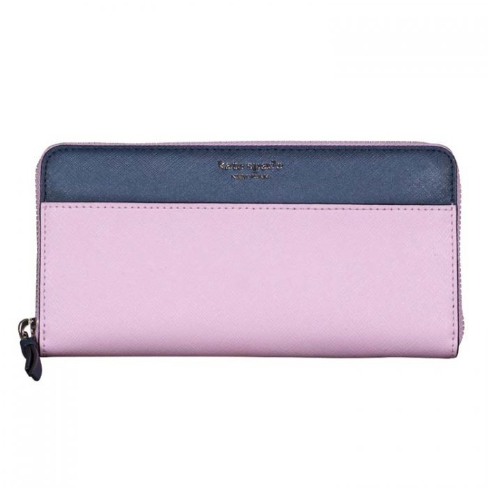 Kate Spade Cameron Continental Wallet in Lavender Petrol Blue