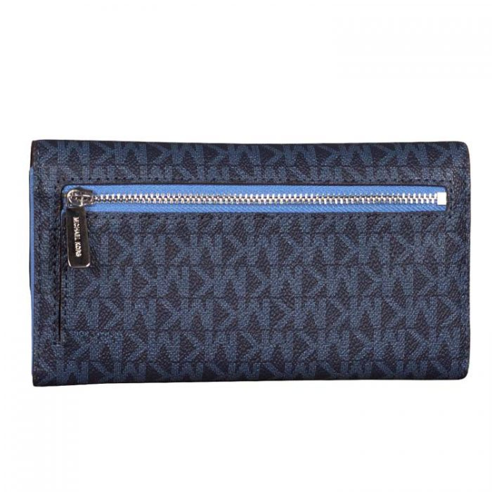Michael Kors Travel Trifold Wallet in French Blue