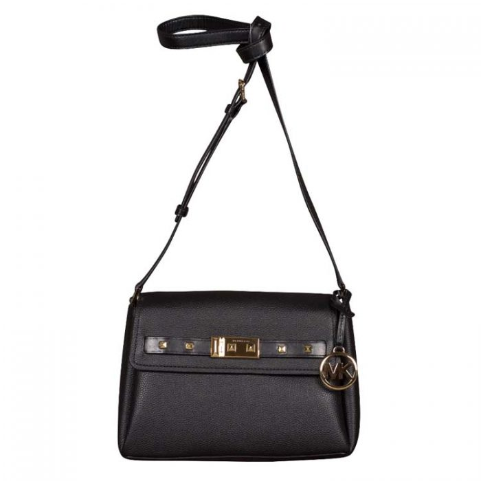 Michael Kors Small Addison Messenger Bag in Black