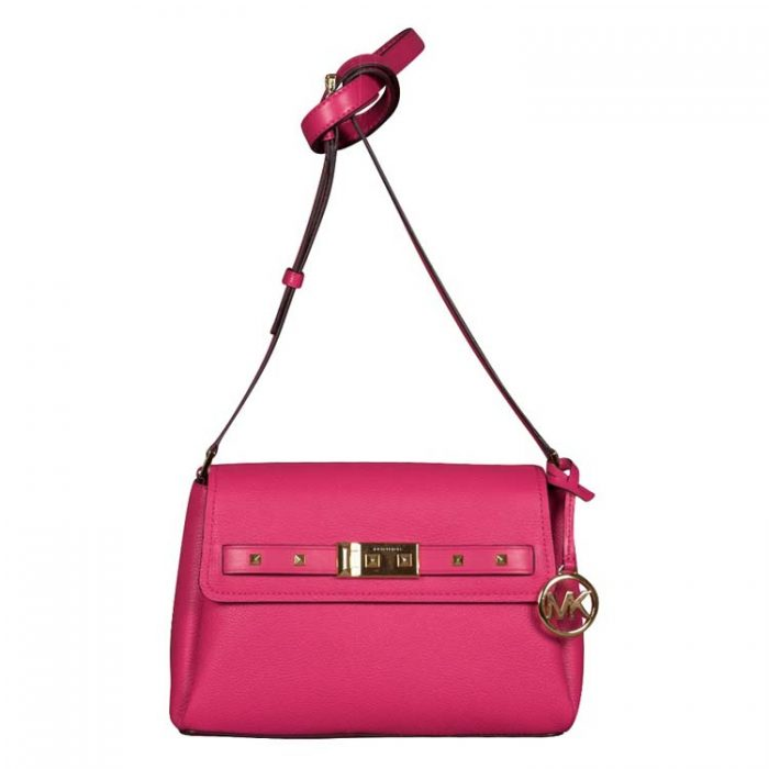Michael Kors Small Addison Messenger Bag in Electric Pink
