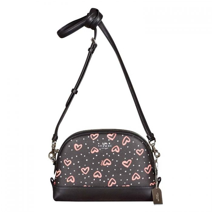 Coach Crayon Hearts Dome Crossbody Bag