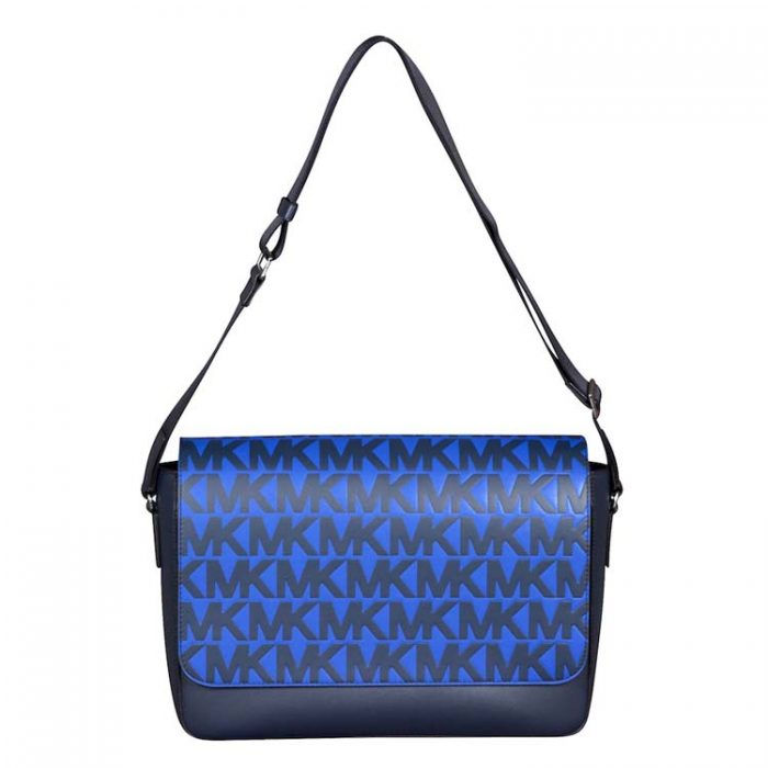 Michael Kors Harrison Messenger Bag in Navy Atlantic Blue