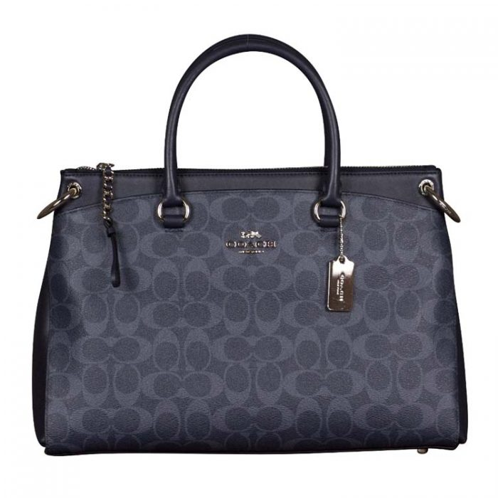 Coach Signature Mia Satchel in Denim Midnight