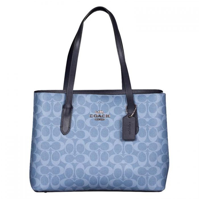 Coach Signature Avenue Carryall in Light Denim Midnight