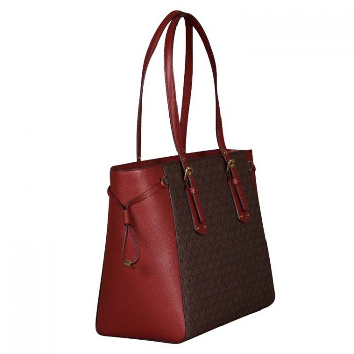 Michael Kors Voyager MF Top Zip Tote in Brandy