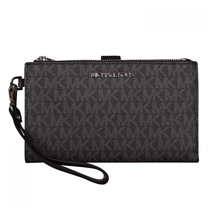 Michael Kors Double Zip Wristlet in Black