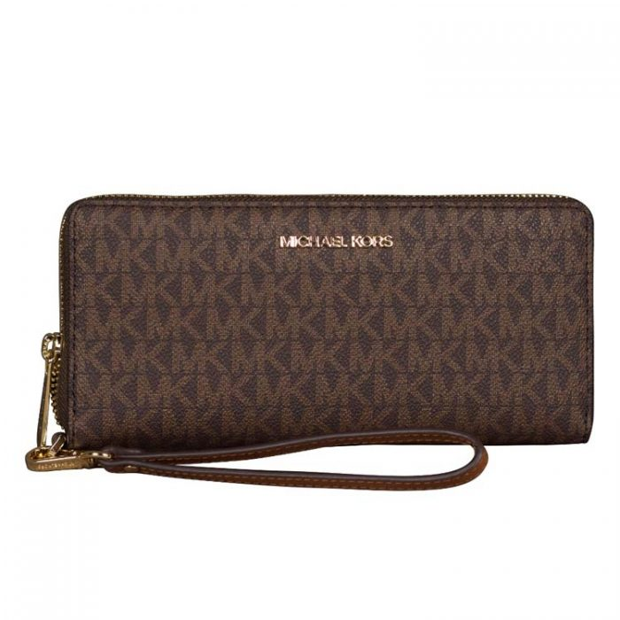 Michael Kors Large Travel Continental Wallet in Brown