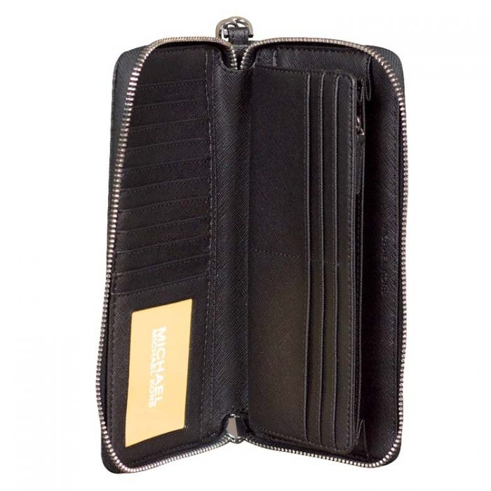 Michael Kors Large Travel Continental Wallet in Black