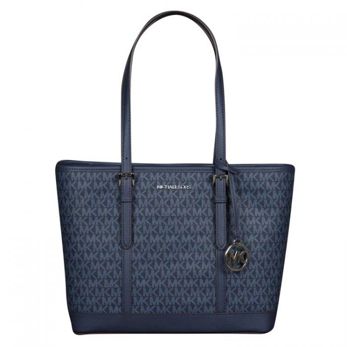 Michael Kors Jet Set Travel Shoulder Tote in Admiral