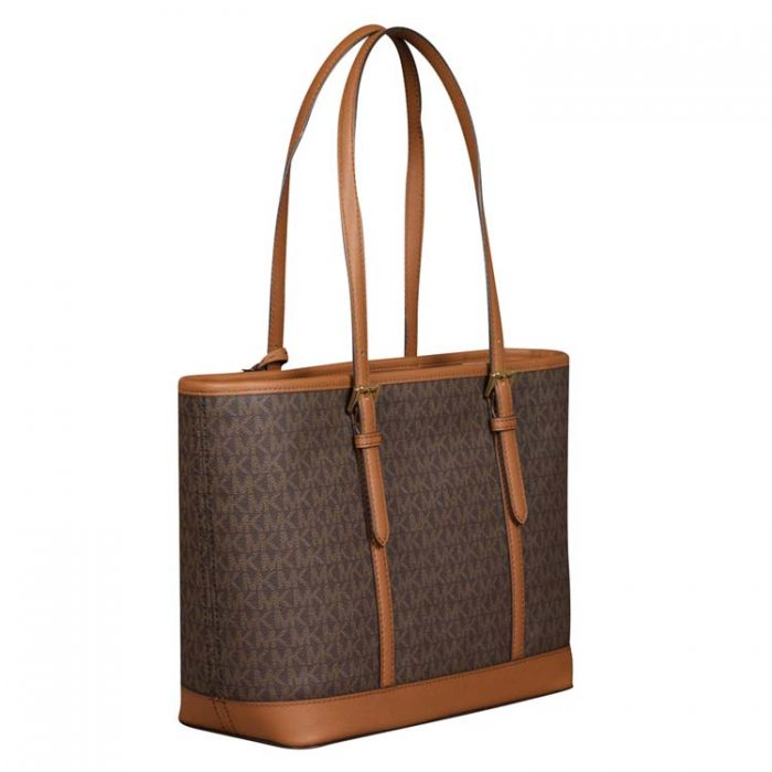 Michael Kors Jet Set Travel Shoulder Tote in Brown