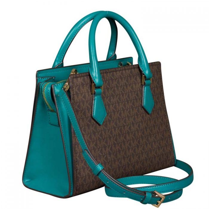 Michael Kors Medium Hope Messenger in Aqua