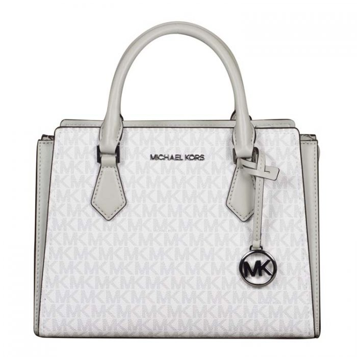Michael Kors Medium Hope Messenger in Aluminum