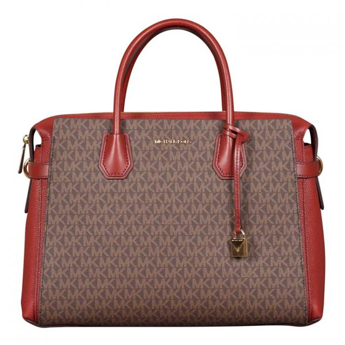 Michael Kors Large Mercer Belted Satchel