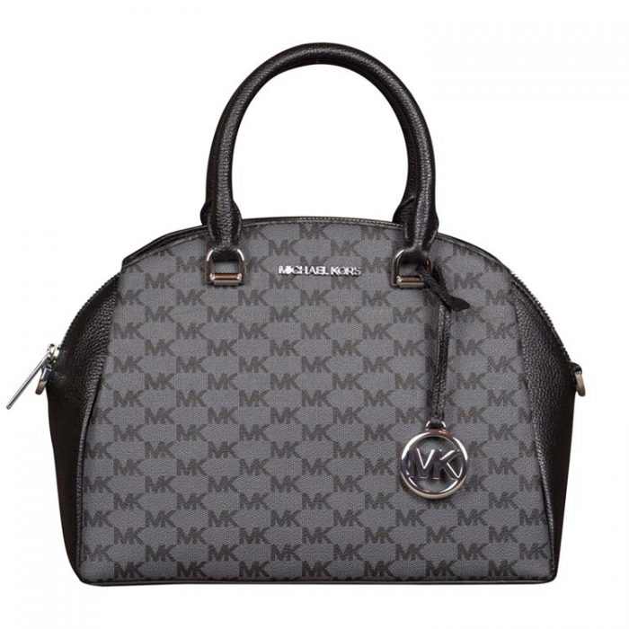 Michael Kors Medium Maxine Dome Satchel in Black