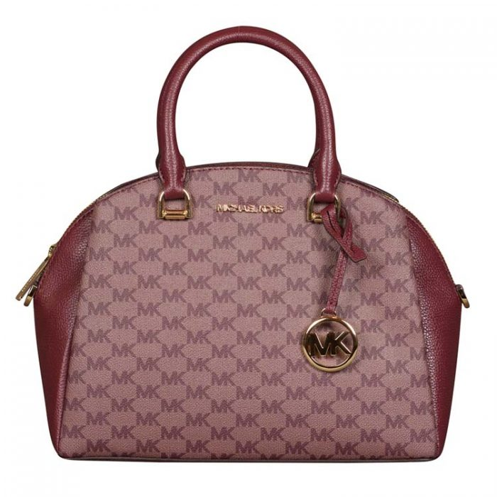 Michael Kors Medium Maxine Dome Satchel in Merlot
