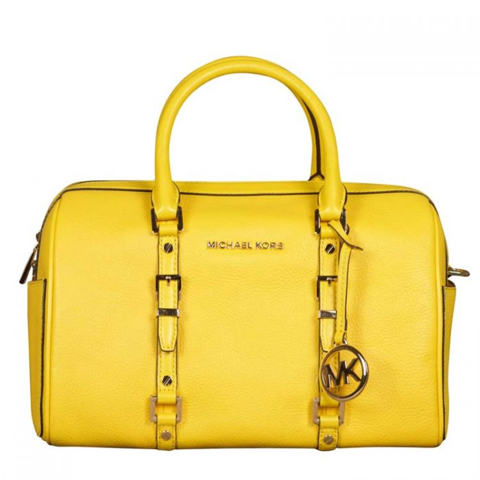 Michael Kors Medium Bedford Duffle Satchel in Sunflower