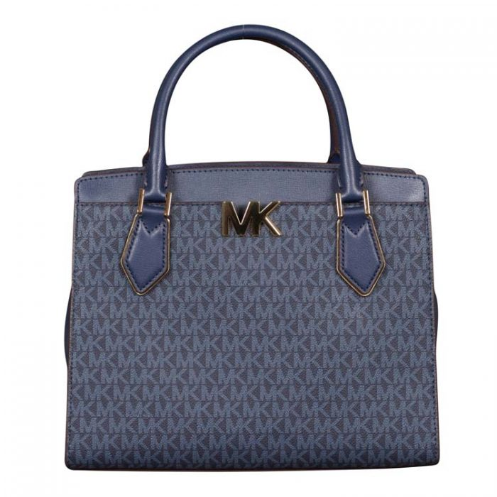 Michael Kors Large Mott Satchel in Admiral