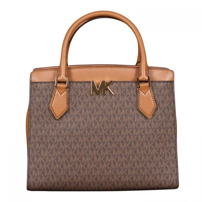 Michael Kors Large Mott Satchel in Brown