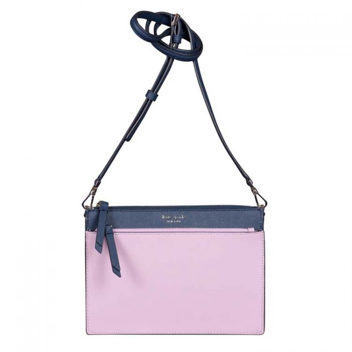 Kate Spade Cameron Zip Crossbody in Lavender Petrol Blue