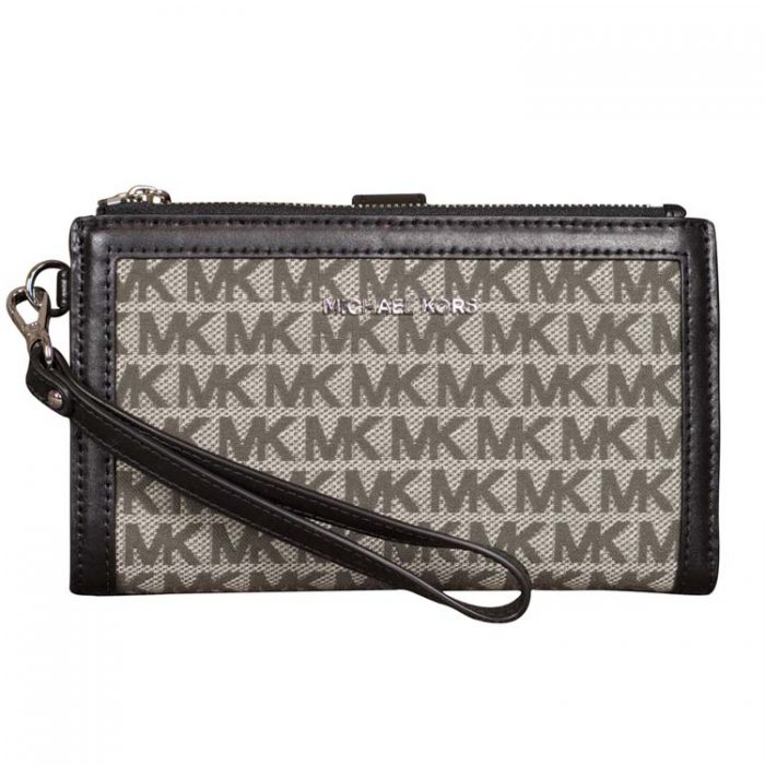 Michael Kors Double Zip Wristlet in Graphite